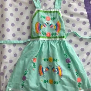 Other - Cute Embroidered Mexican style dress. Size 2.